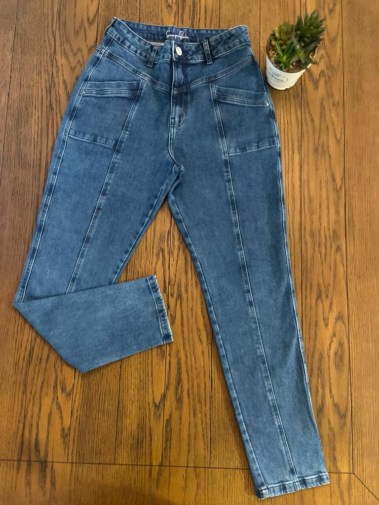 Calça Jeans MOM Trich