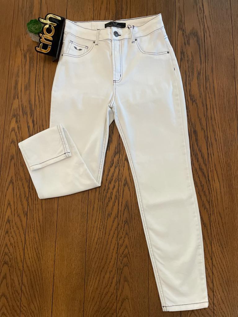 Calça Jeans Off Cropped Trich