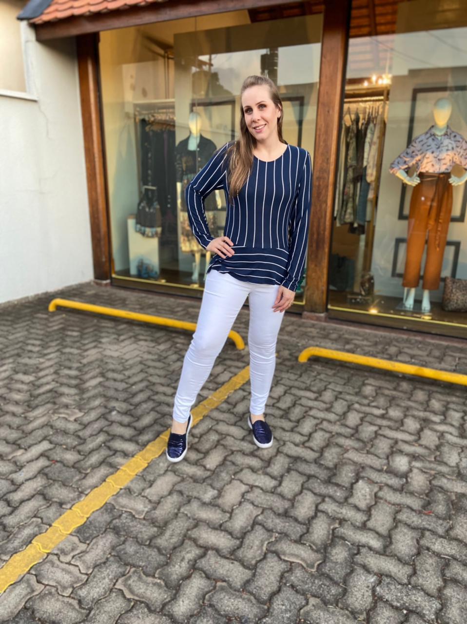Calça Jeans Skiny Branco Trich