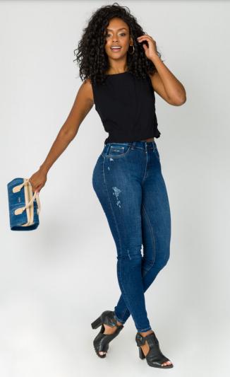 Calça Jeans Skiny Comfort Trich
