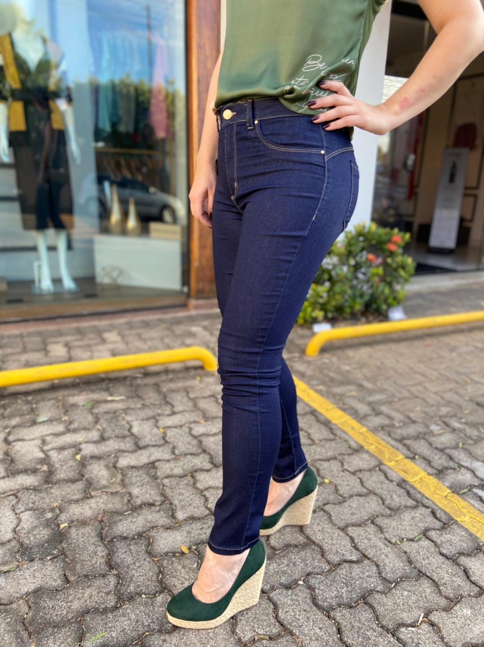 Calça Jeans Skiny Cropped Trich