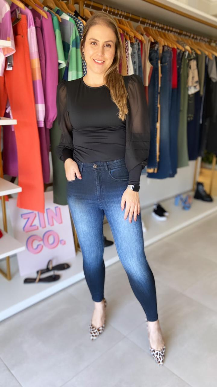 Calça Skinny Black Jeans Myft