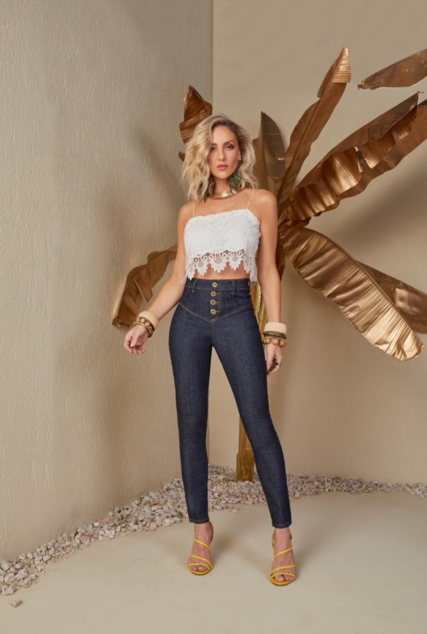 Calça Skinny Jeans Tigrara