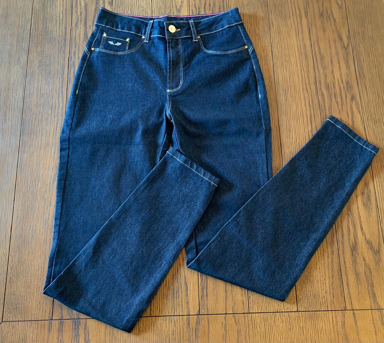 Calça Skinny Power Girl Escura Trich Jeans