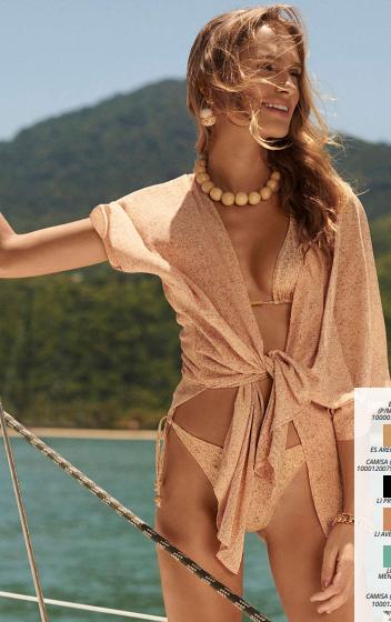 Camisa Manga Curta Morena Rosa Beach