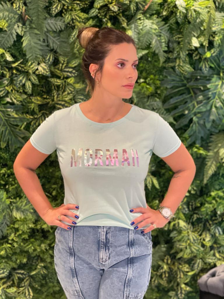 Camiseta Mormaii Feminina Aplicação - Lilás