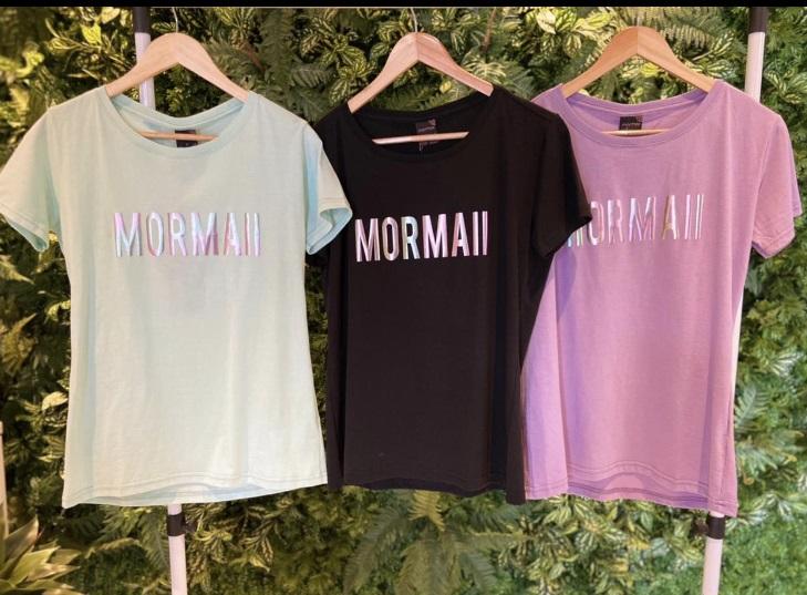 Camiseta Mormaii Feminina Aplicação - Preta