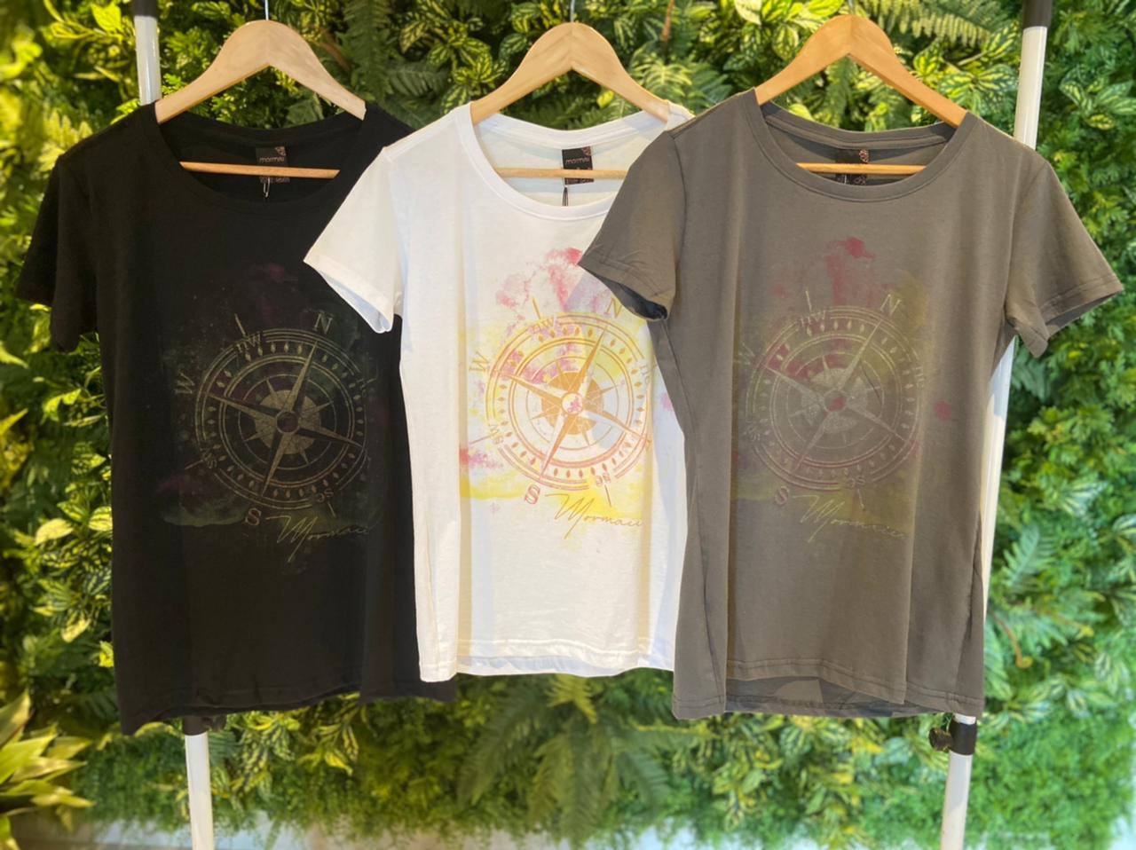 Camiseta Mormaii Feminina Bússola Cinza