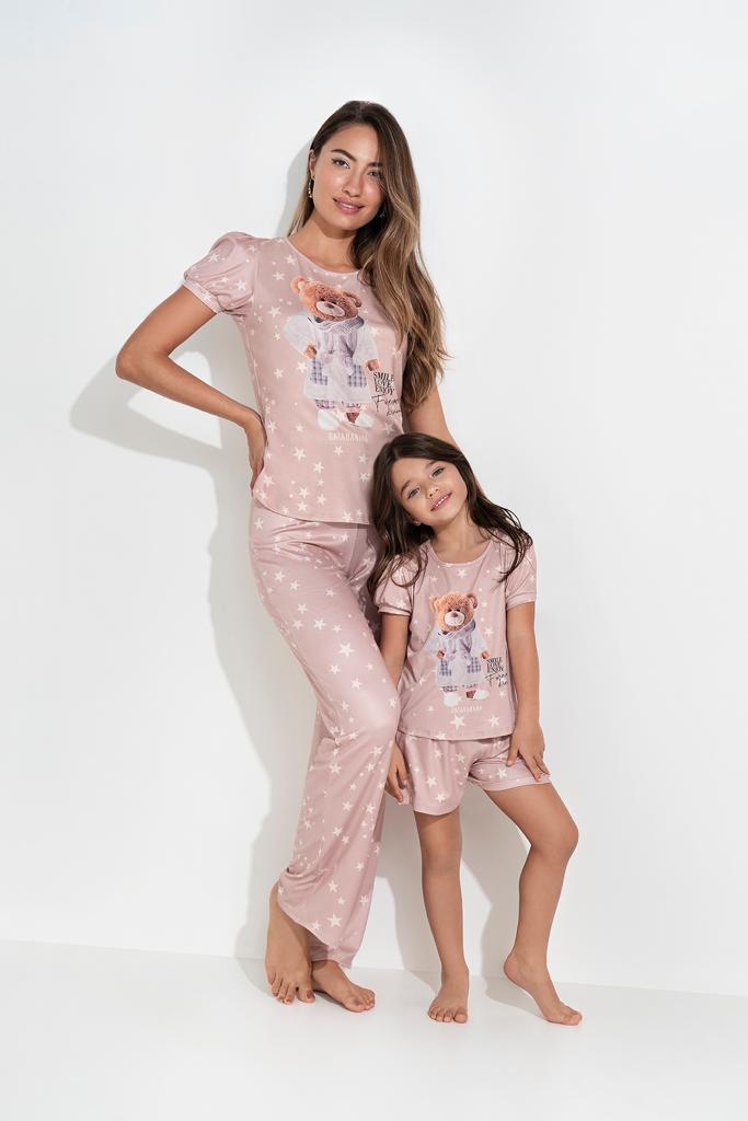 Pijama Malha Infantil Caqui GB