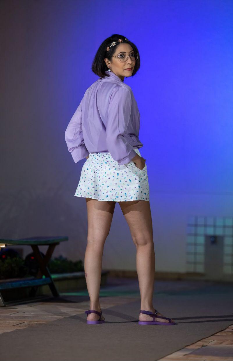 Shorts Gode Bolso Faca Morena Rosa