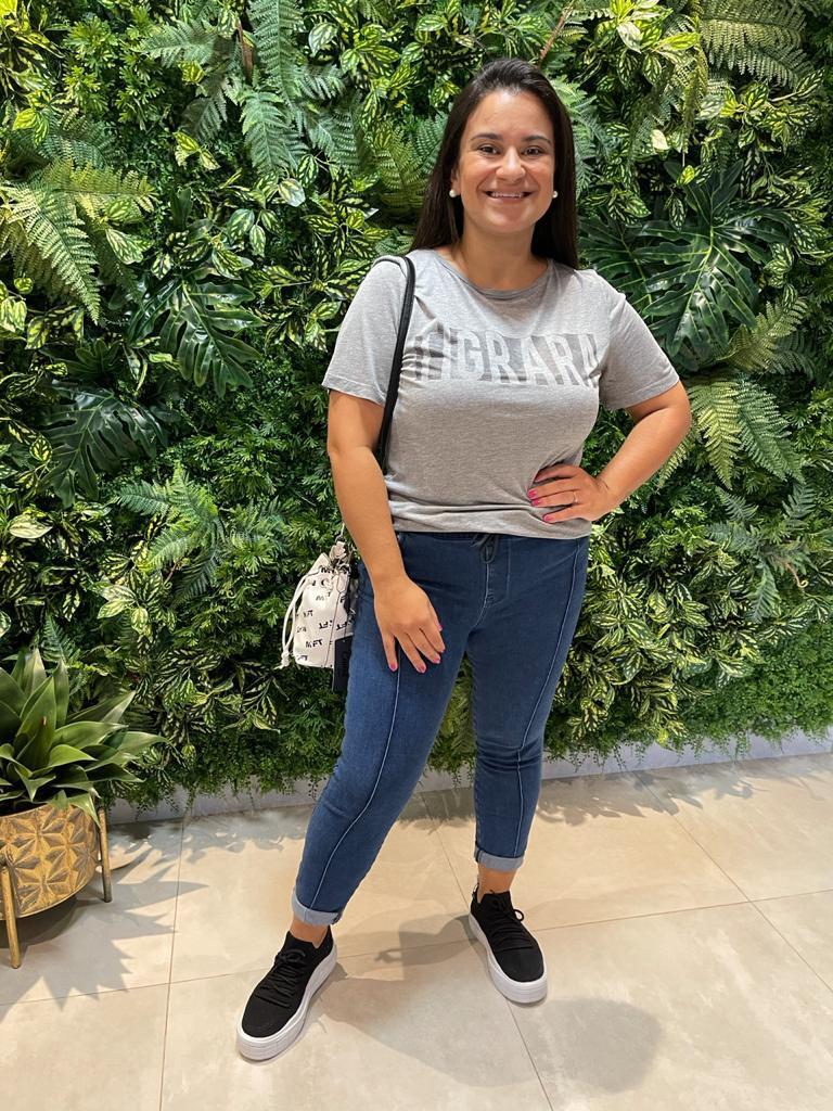 T-shirt Confort Malha Mescla Tigrara