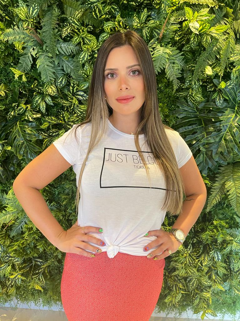 T-shirt Reta Malha Branca Tigrara