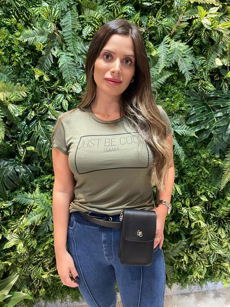 T-shirt Reta Malha Verde Tigrara