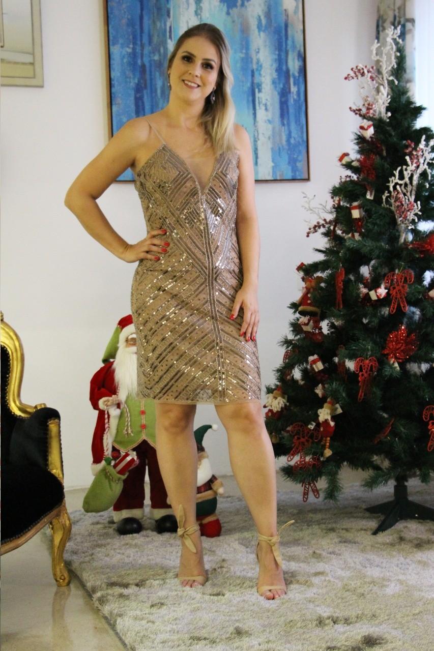 Vestido em Paeté Milão