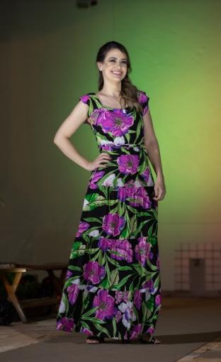 Vestido Longo Floral Carol