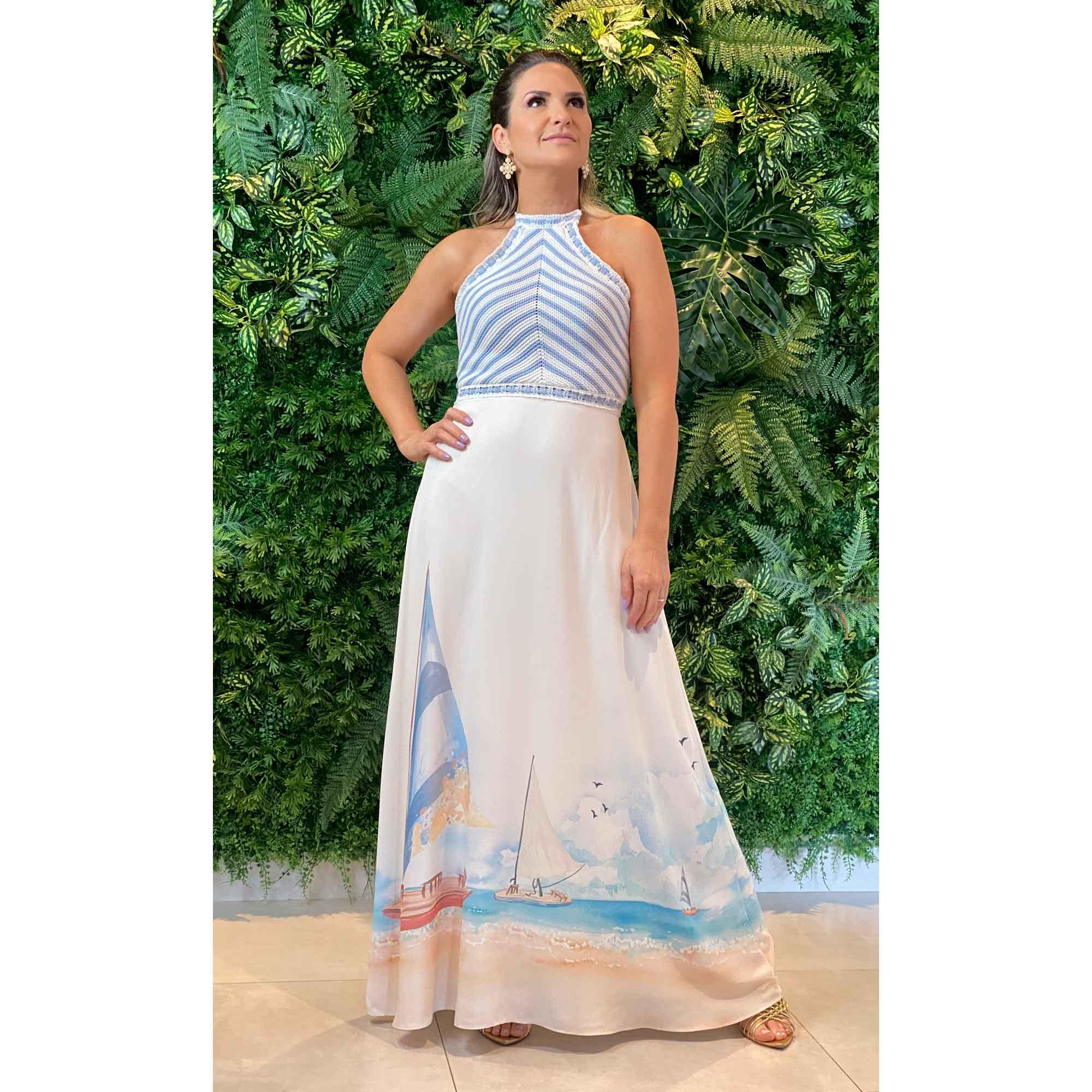 Vestido Resort com Tricot - Lez a Lez