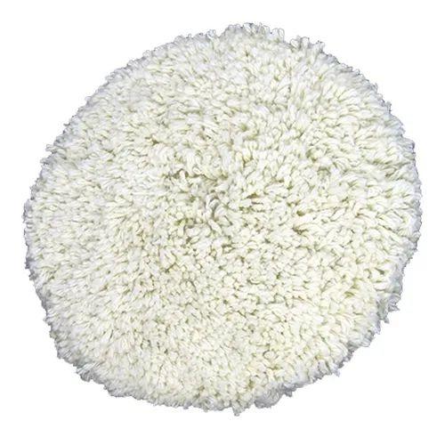 Boina de lã Dupla Face Fio Branco Disco Flexivel 8