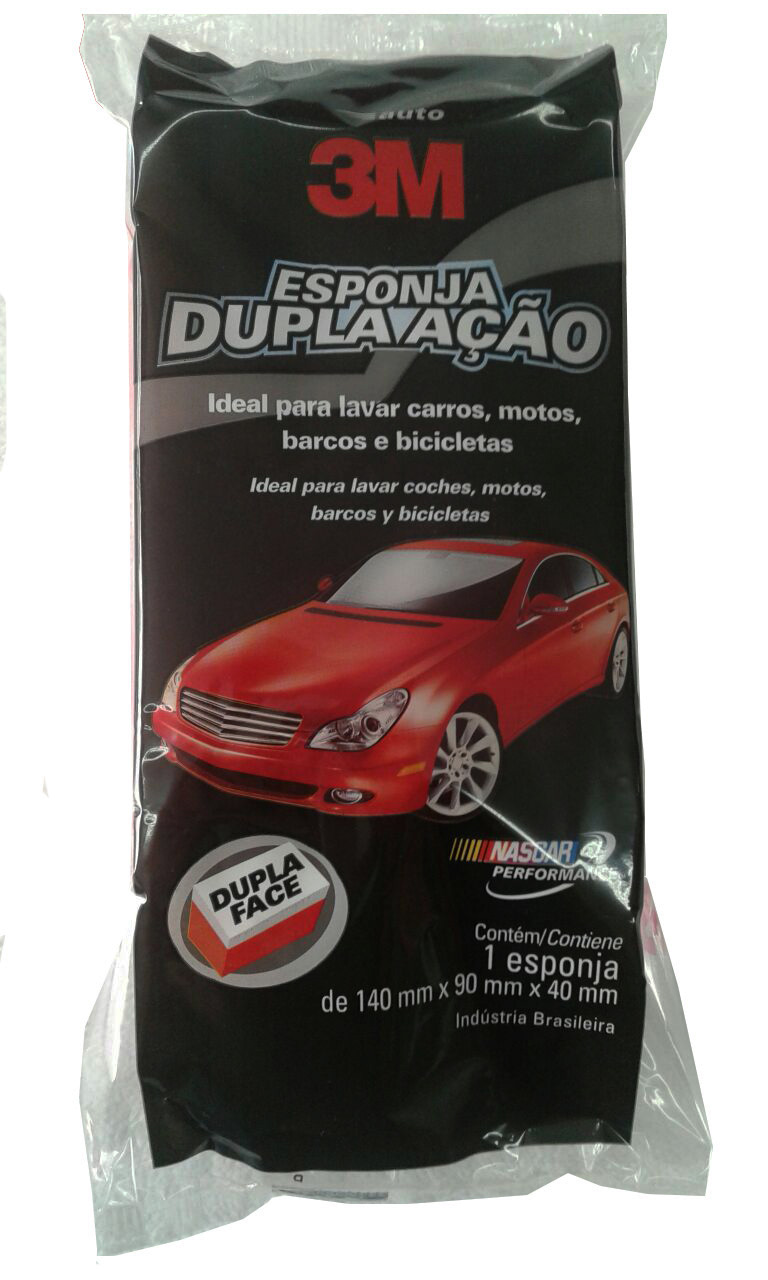 Esponja Dupla Ação Para Lavagem Automotiva 3M