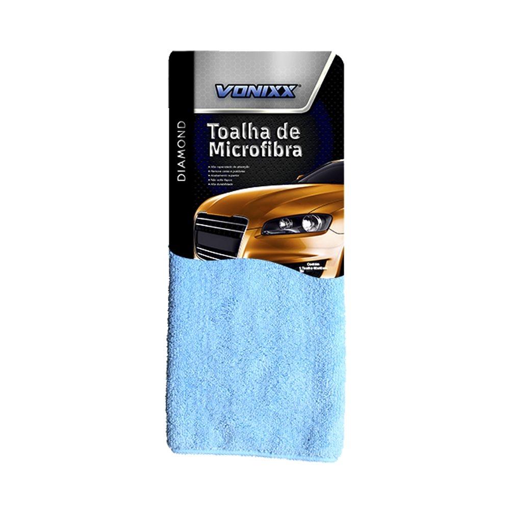 Toalha de Microfibra 40x40cm 350gsm Azul Vonixx