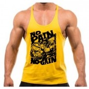camiseta regata tank top no pain no gain