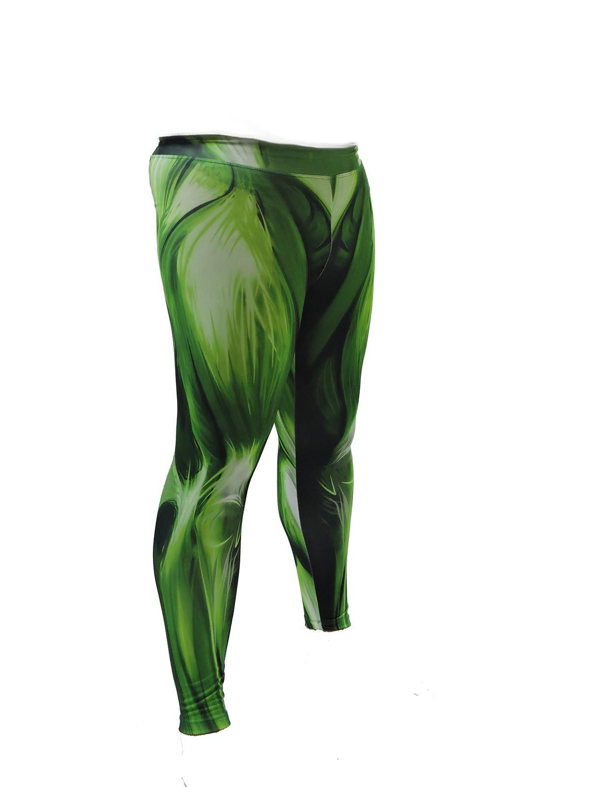 Calça Legging Masculina Musculos verde