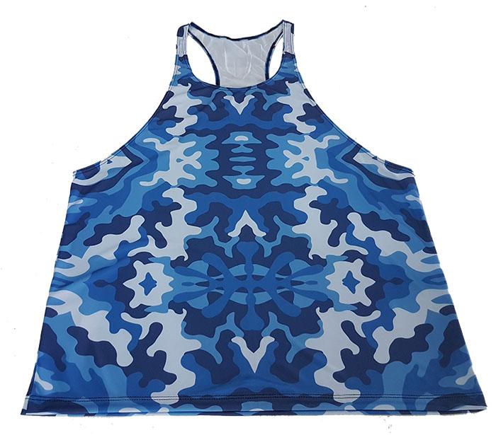 Camiseta Regata Academia Camuflada Azul