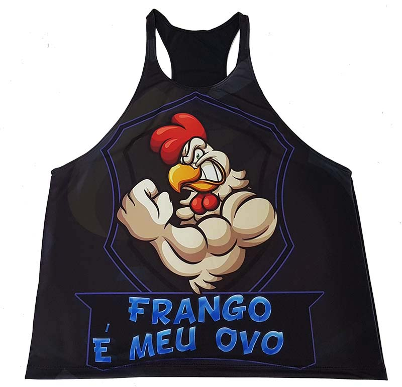 Camiseta Regata Academia Frango e meu OVo