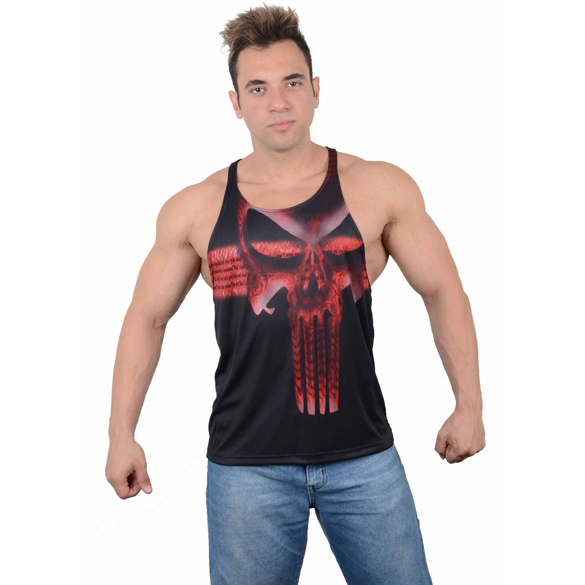 Camiseta Regata Academia Super Cavada Justiceiro