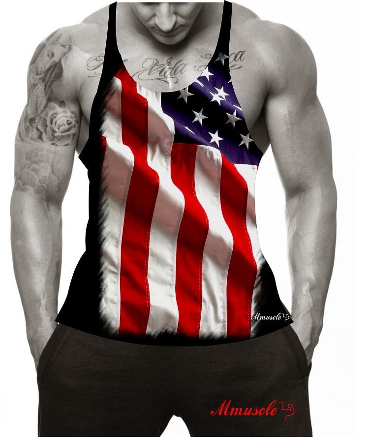 Camiseta Regata Academia Super Cavada Mmuscle EUA