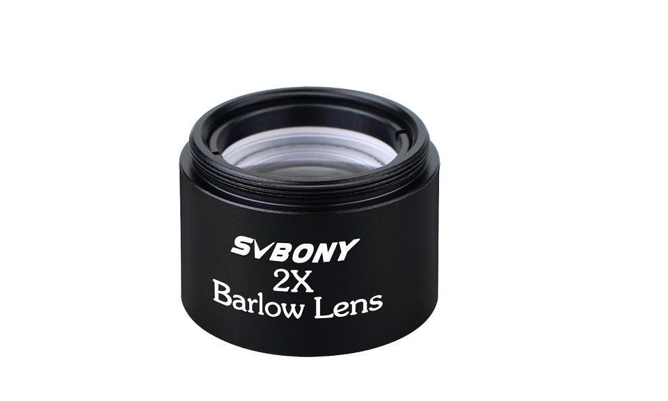 "Barlow 2x - Compacta 1,25"" - Lente Acromática - Rosca Universal - SVBONY"