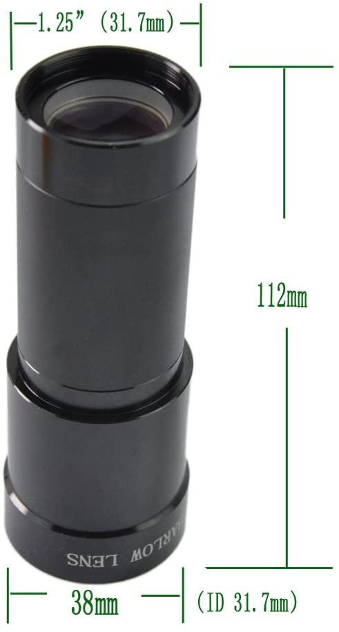 "Barlow 3x - 1,25"" - Long Black - Green Glass ANTARES"