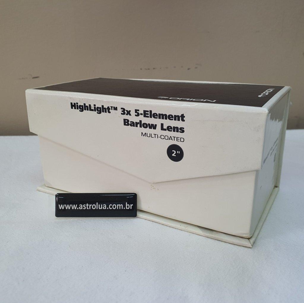 """Barlow 3x  2""""  HighLight 5 Elementos Ópticos ORION"""