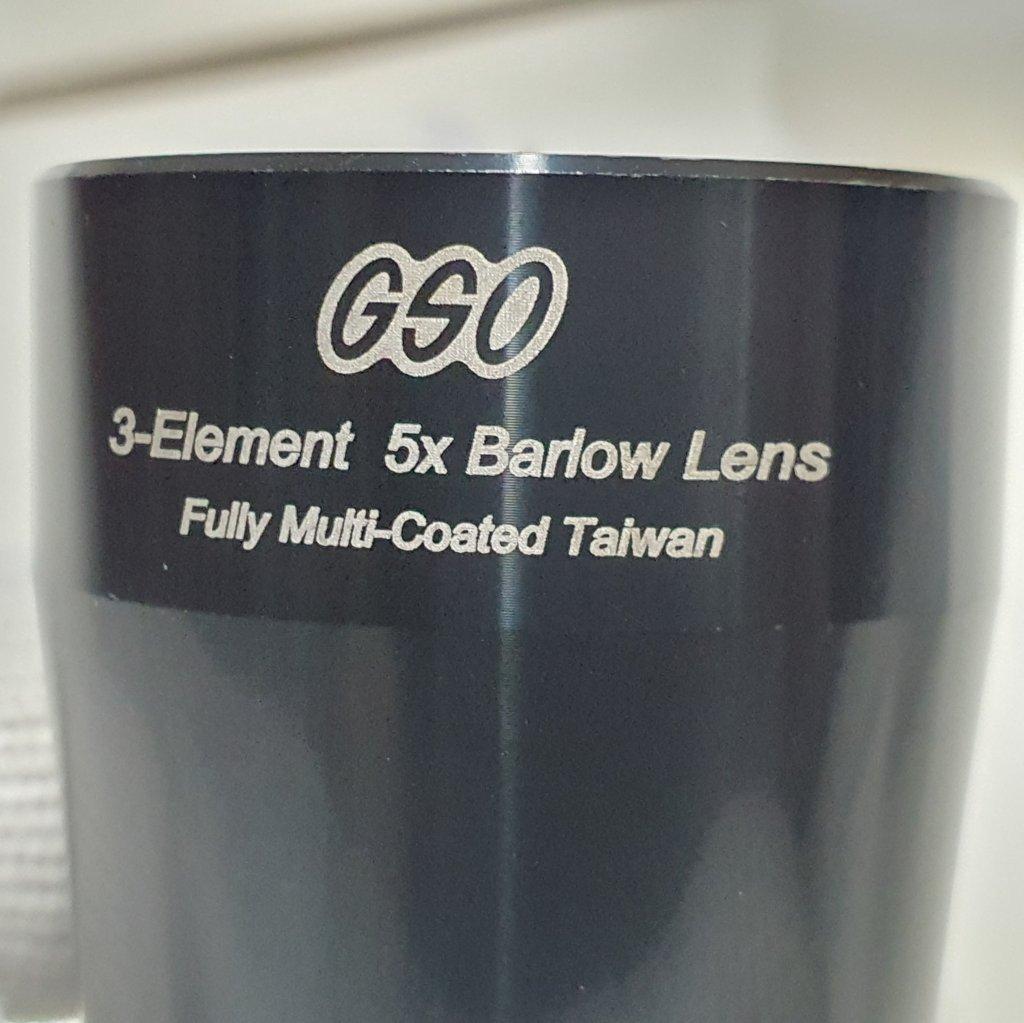 """Barlow 5x - 1,25"""" - Apocromática - GSO"""