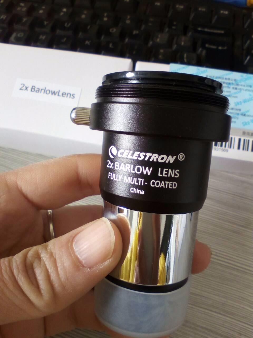 """Barlow Dual Face 1.5x E 2x - 1,25"""" Acromática Com Rosca T (M42) - CELESTRON"""