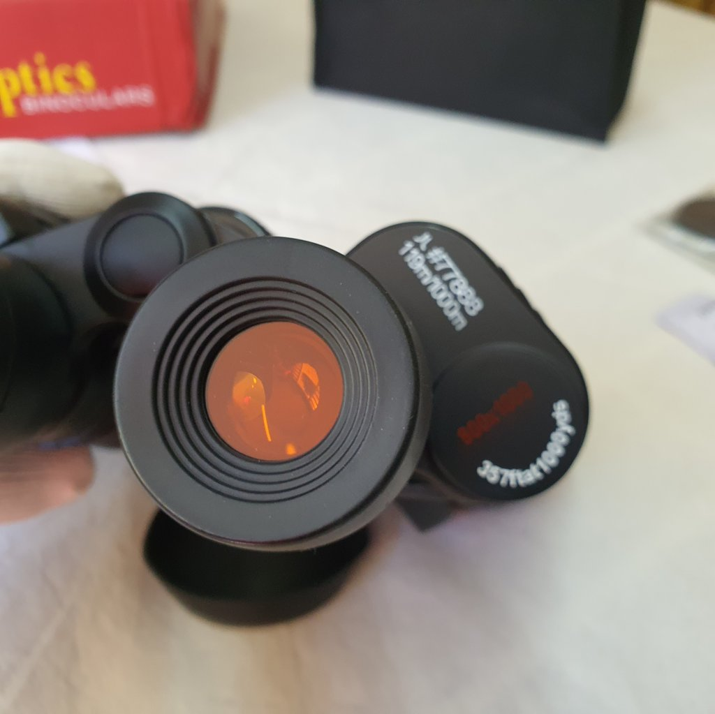 Binóculos SS 7x50 - BaK-4 - Prismas Porro - Com Filtros De Corte (RED EYES) - TIAN-ZHU