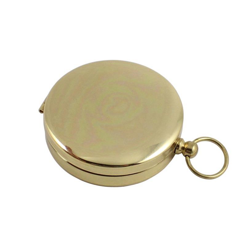 Bússola Dourada Translúcida de Bolso e/ou Alça De Pescoço - ASTROLUA