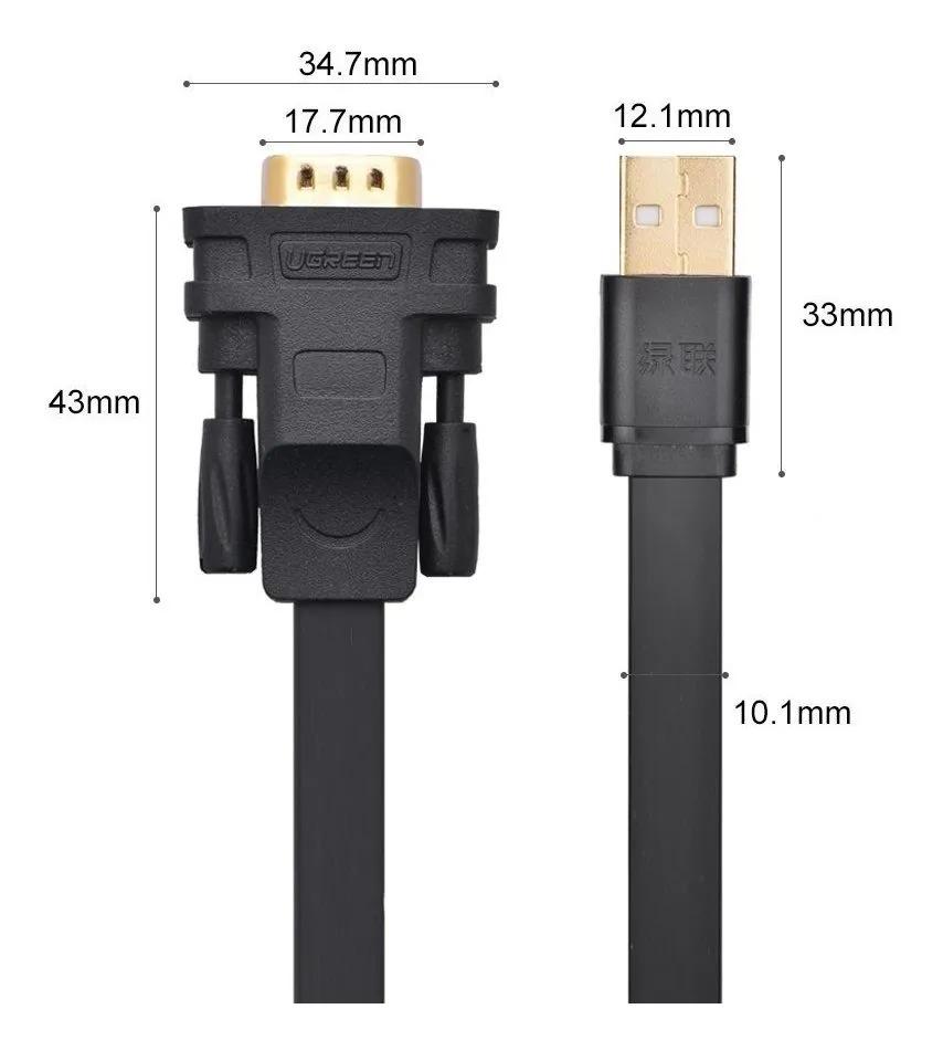 Cabo Adaptador Série Gold - USB x DB9 Macho Serial - 90cm - UGREEN