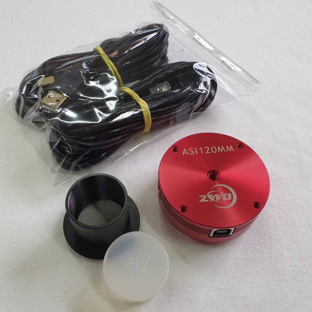 Câmera ASI - 120mm - USB - Porta pra Guiagem ST4 - Monocromática - ZWO