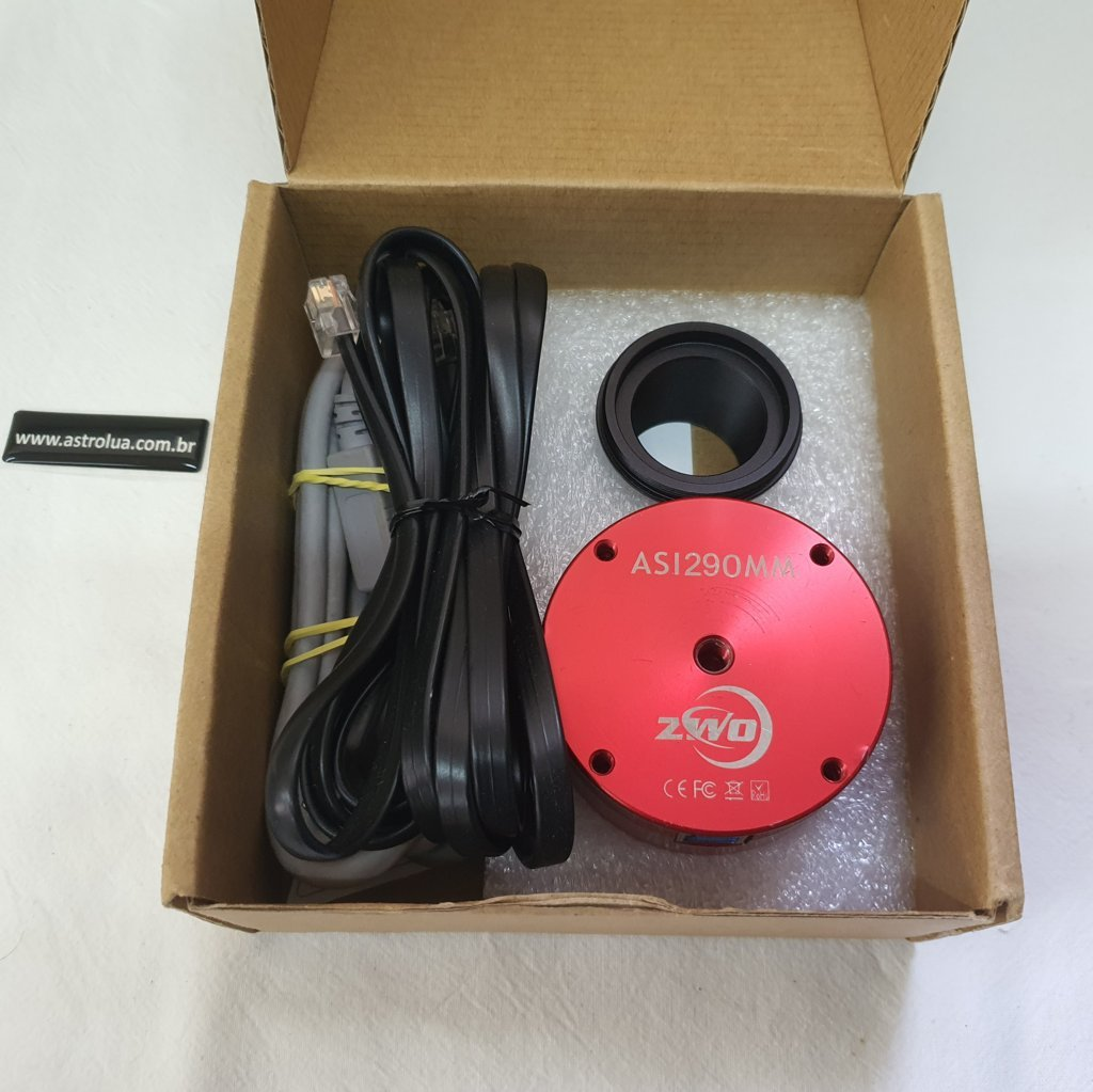 Câmera ASI 290MM - Mono - USB - ST4 - Lente All Sky 150º - ZWO