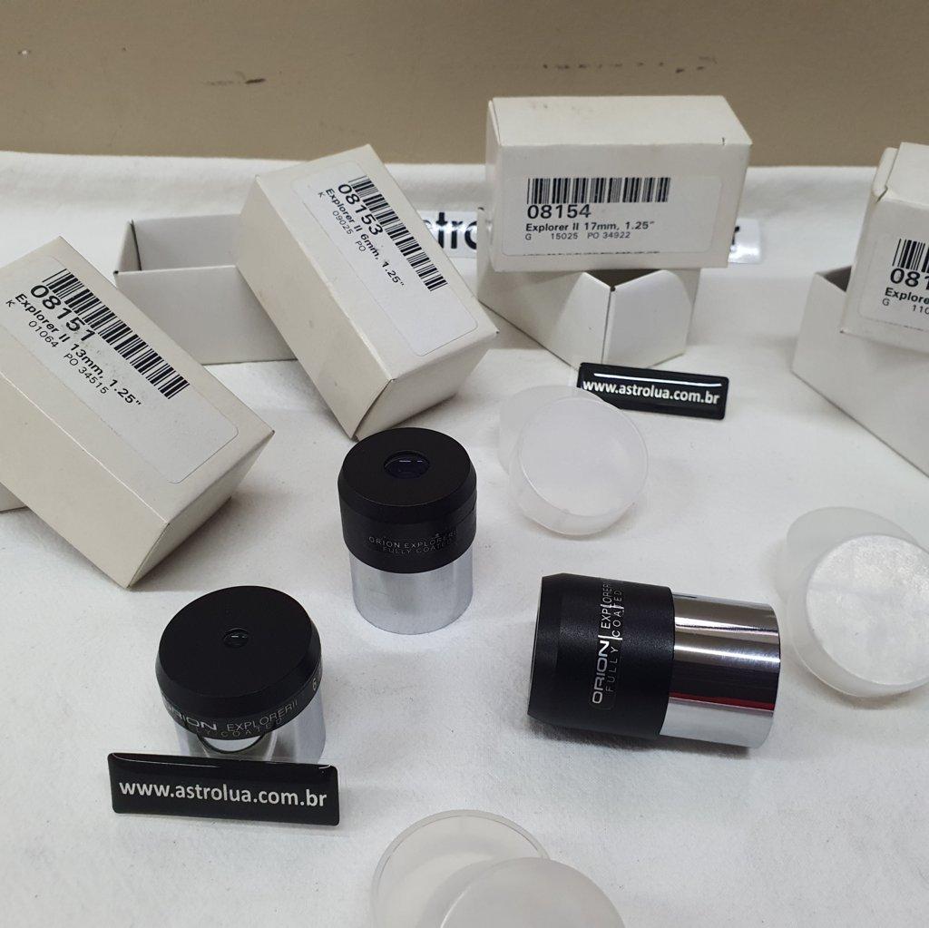 "Conjunto 04 Oculares 1,25"" - Explorer II - 6mm, 10mm, 13mm e 17mm - ORION"