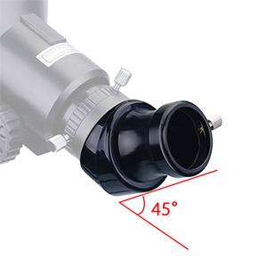 """Diagonal 45º - Prisma Corretor de Imagens - Encaixe 1,25"""" - SVBONY"""