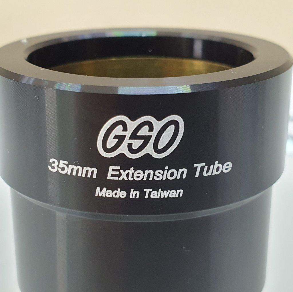 """Extensor de 35mm - Encaixe 1,25""""  - 100% Alumínio - Cinta de Bronze - GSO"""