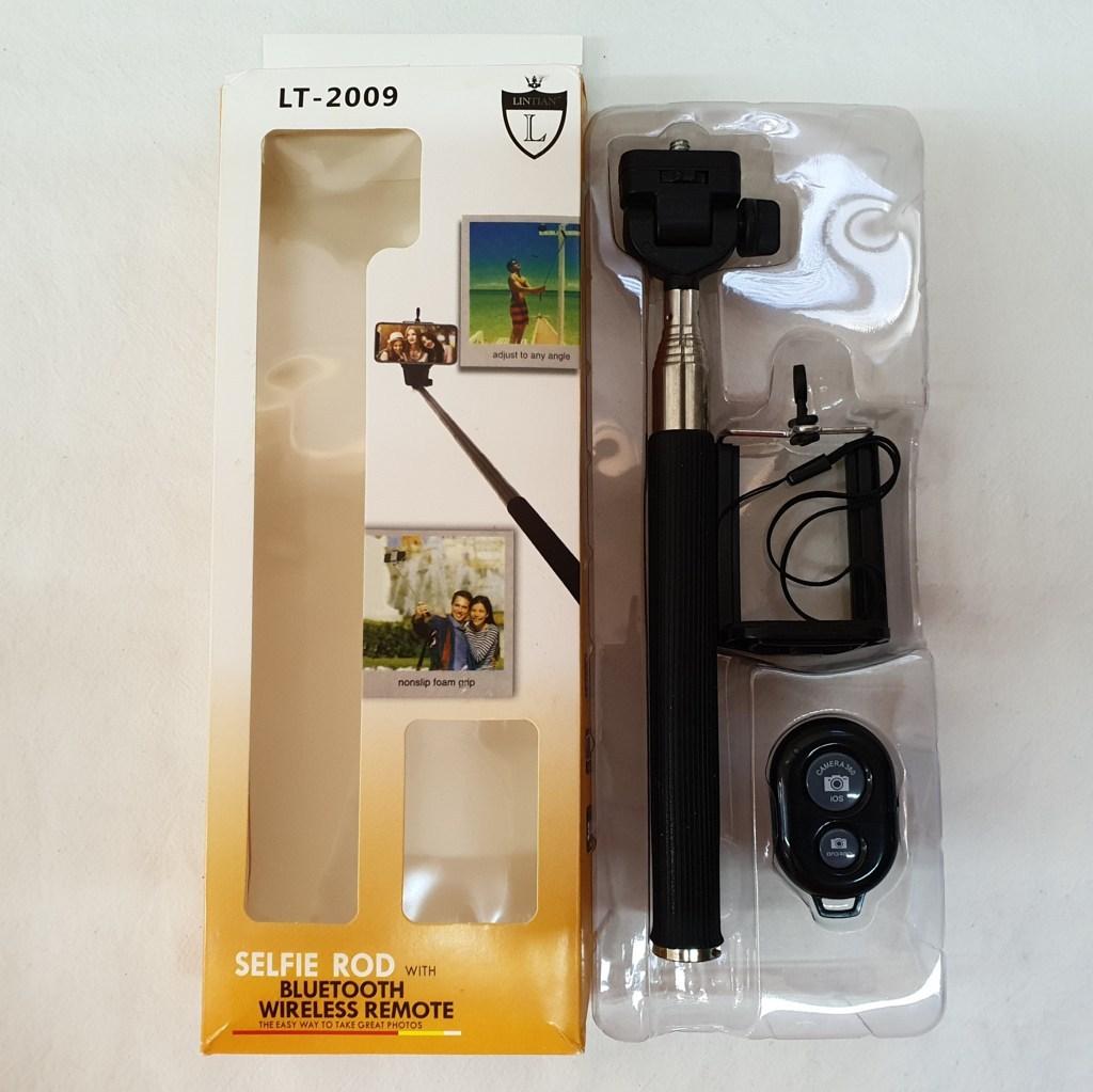 Kit Pau de Selfie com Disparador Bluetooth - LINTIAN