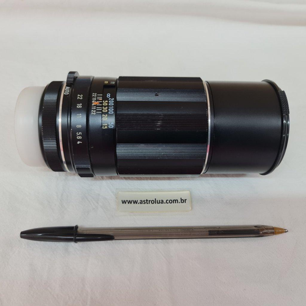 Lente 200mm f/4 - Encaixe M42 - TAKUMAR - Asahi Opt.Co - JAPONESA