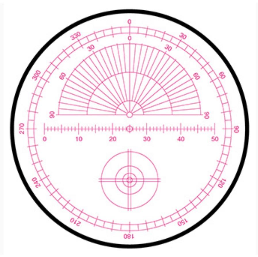 """OCULAR 12mm 1,25"""" Astrométrica de Retícula Iluminada Série 4000 - MEADE"""