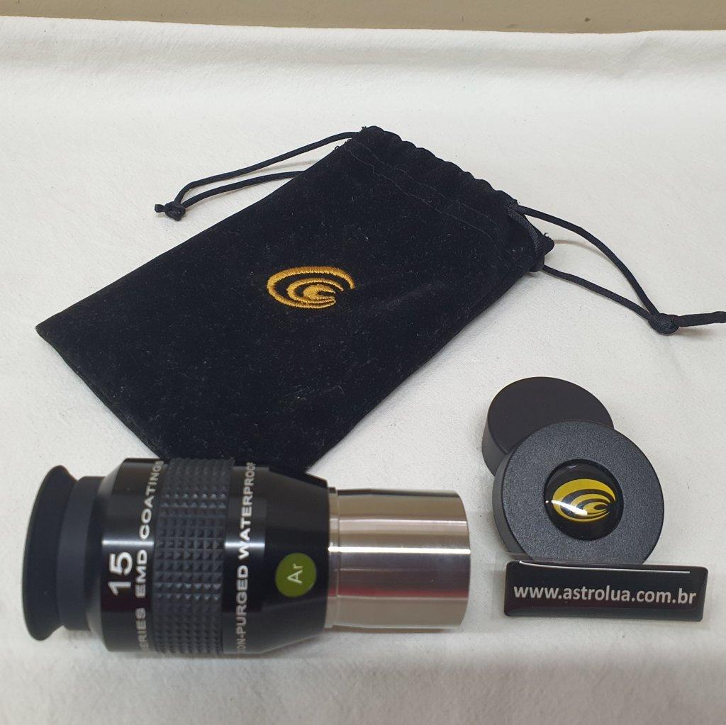 "Ocular 15mm 1,25"" - 52º de Campo - Argônio - EXPLORE SCIENTIFIC"
