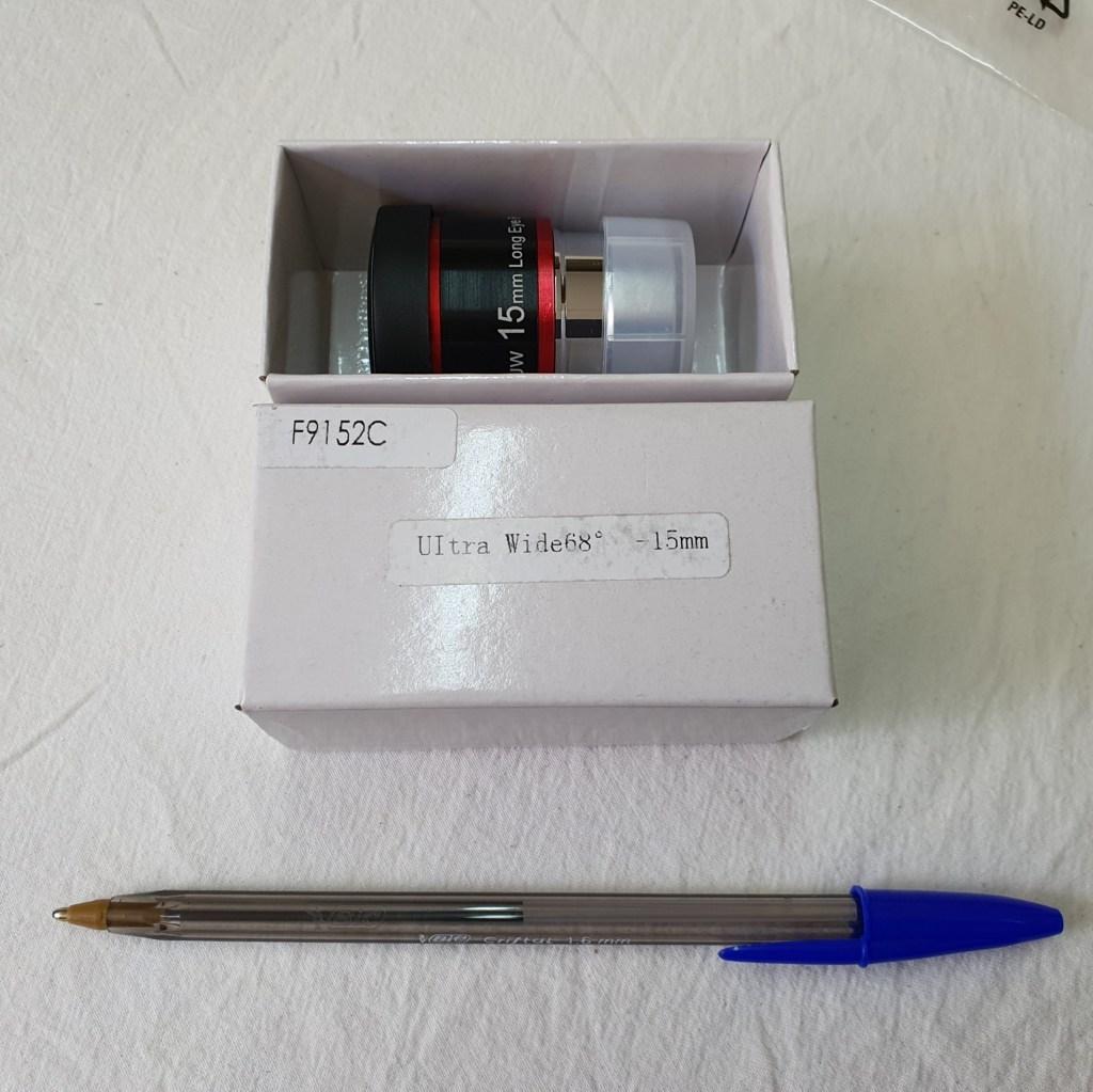 "Ocular 15mm - 1,25"" - Ultra Wide Angle 68º - Red Ring - SVBONY"