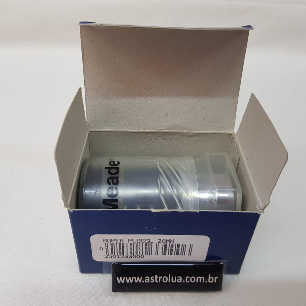 """Ocular 20mm - 1,25"""" - Super Ploss - Serie 4000 - MEADE"""