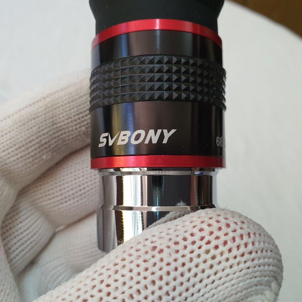 "Ocular 20mm - 5 Elementos - 68 Graus de Campo - Ultra Wide Angle - 1,25"" Modelo Red Ring - SVBONY"