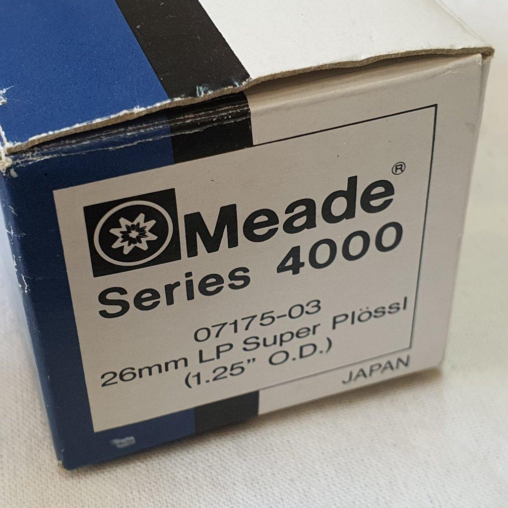 """Ocular 26mm 1,25"""" - Series 4000 - Super Plóssl Japan - MEADE"""